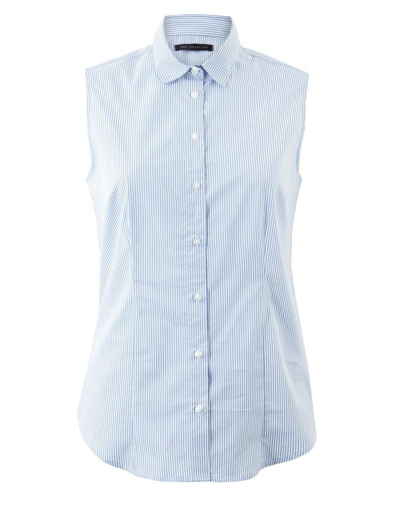Çizgili Kolsuz Gömlek