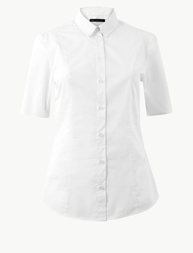 Beyaz Kısa Kollu Gömlek
