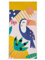 Ev Multi Renk Tukan Kuşu Desenli Plaj Havlusu
