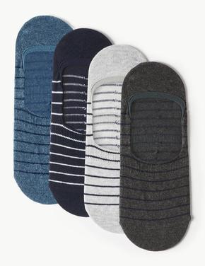 4'lü Paket Çizgili Spor Çorabı