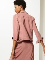 Kadın Pembe Denim Ceket