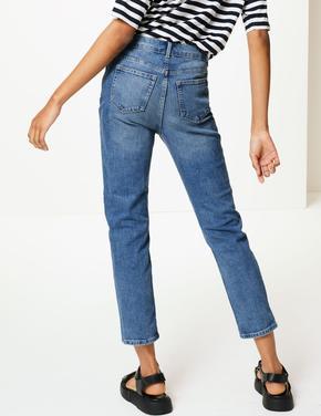 Relaxed Slim Kısa Jean