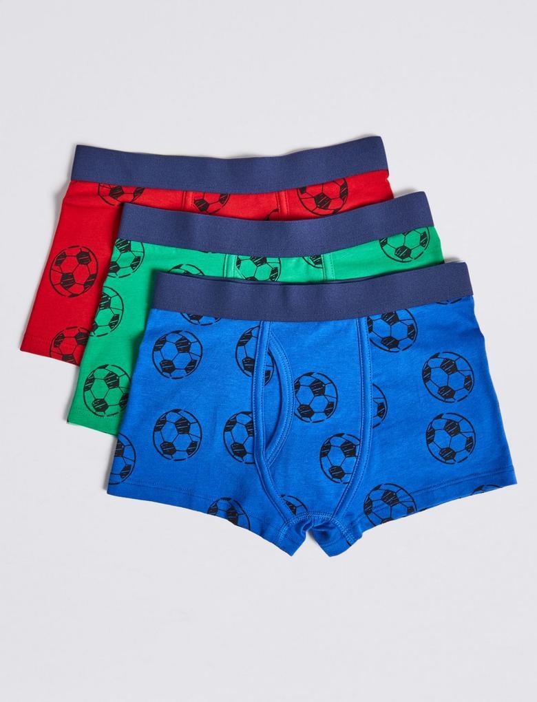 5'li Futbol Desenli Trunk Seti