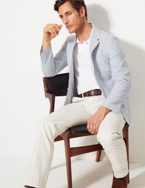 Pamuklu Çizgili Ceket