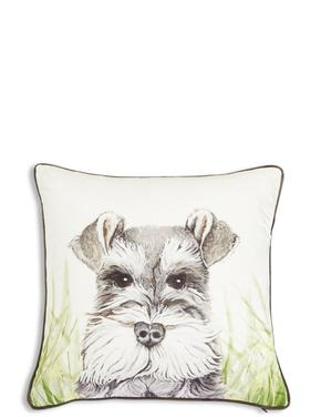 Köpek Baskılı Dekoratif Yastık