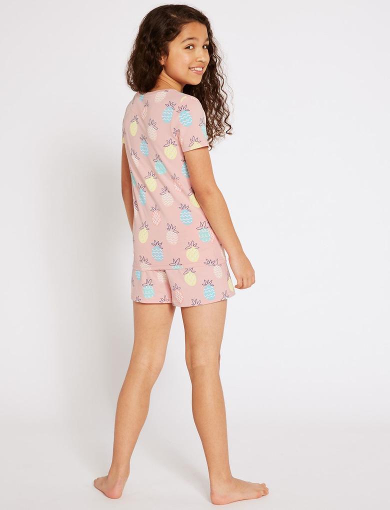 Pamuklu Şortlu Pijama Takımı