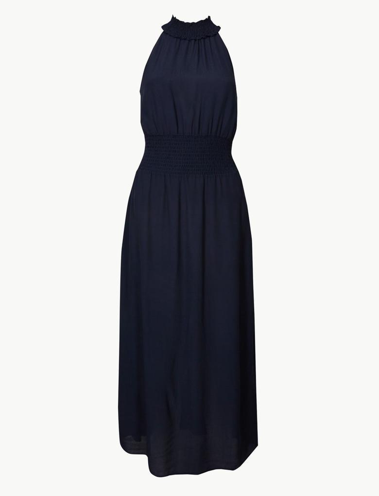 Kolsuz Midi Elbise