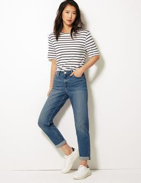 Kadın Mavi Relaxed Slim Jean
