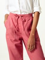 Keten Karışımlı Tapered Peg Pantolon