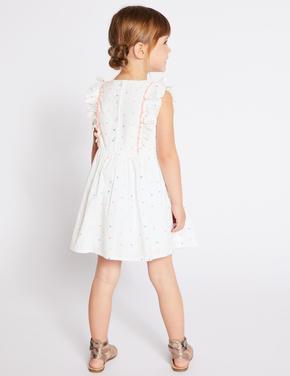 Saf Pamuklu Kolsuz Elbise