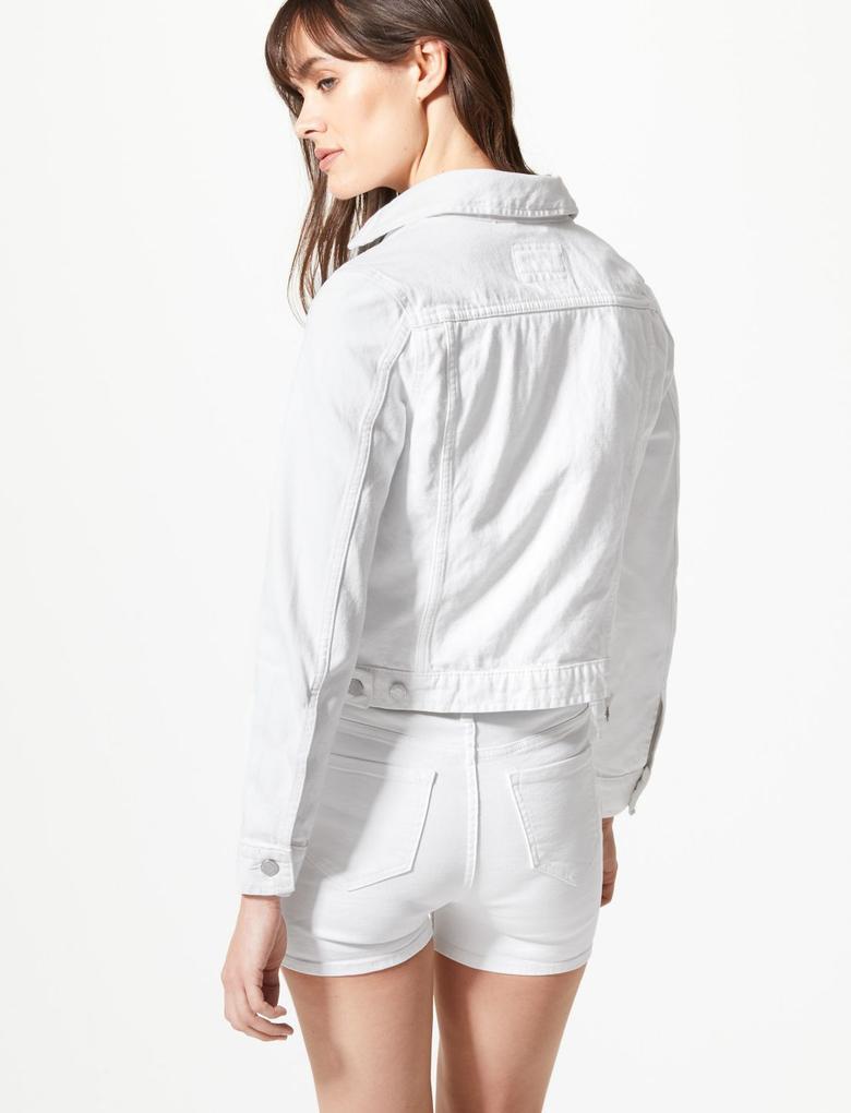 Kadın Beyaz Denim Ceket