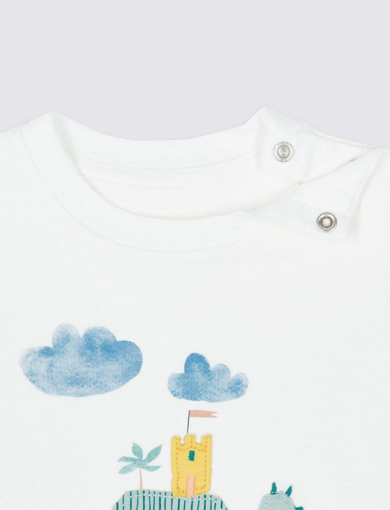 Bebek Yeşil T-shirt ve Şort takımı
