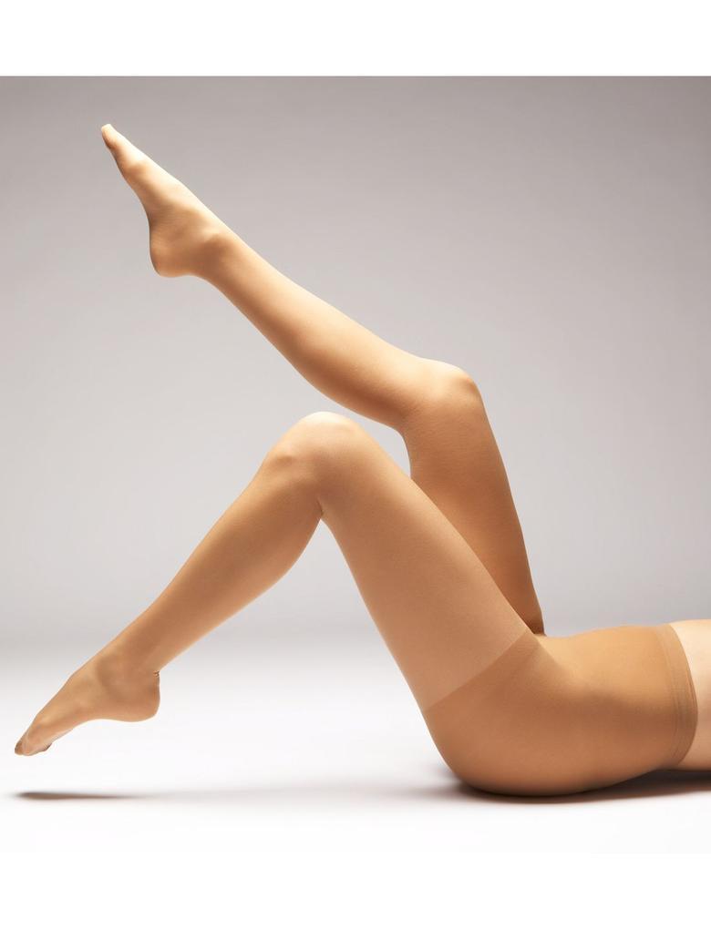 Kahverengi 3'lü 15 Denye Işıltılı Külotlu Çorap Seti
