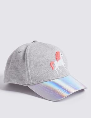 Unicorn İşlemeli Güneş Korumalı Basball Şapkası