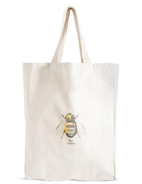 Arı Desenli Bez Çanta