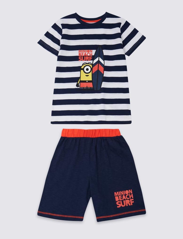Despicable Me Minion Şortlu Pijama Takımı