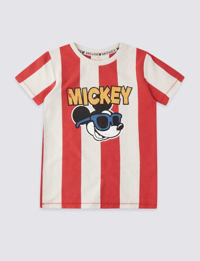 Mickey Mouse Baskılı T-shirt