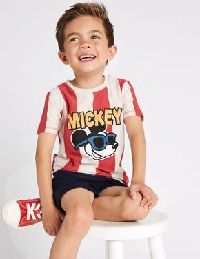 Mickey Mouse Baskılı T-shirt