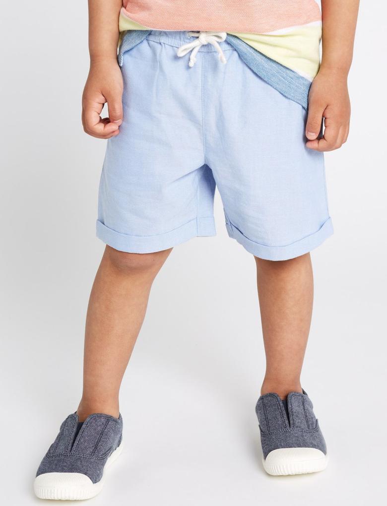 Mavi Şort Polo T-shirt Takımı