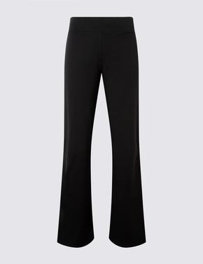 Siyah Pamuklu Straight Leg Jogger Pantolon