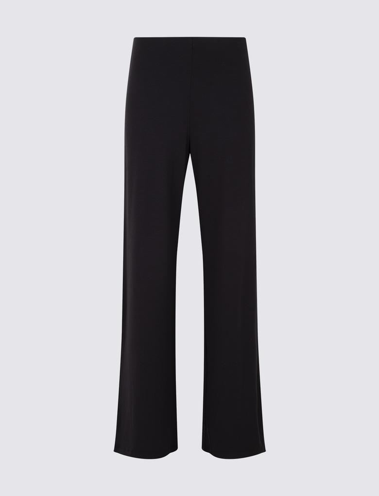Kadın Siyah Geniş Paçalı Pantolon