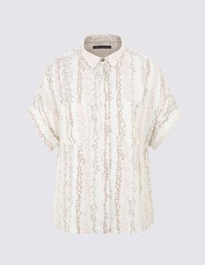 Kadın Krem Safari Bluz