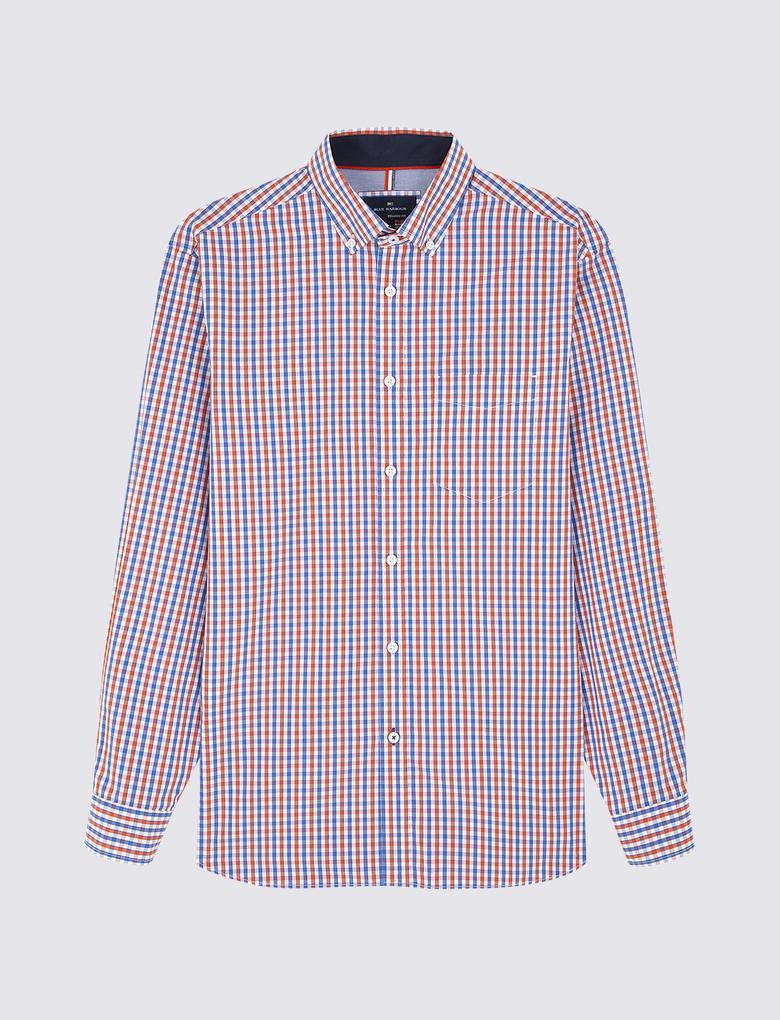 Uzun Kollu Mini Kareli Gömlek