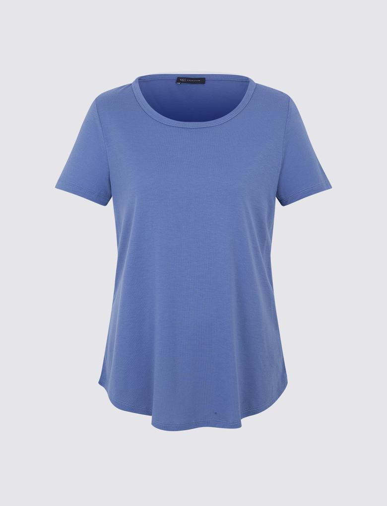 Mavi Kısa Kollu T-Shirt