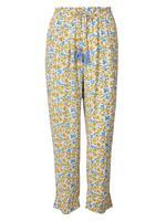 Sarı Çiçekli Pijama Altı