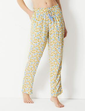 Çiçekli Pijama Altı