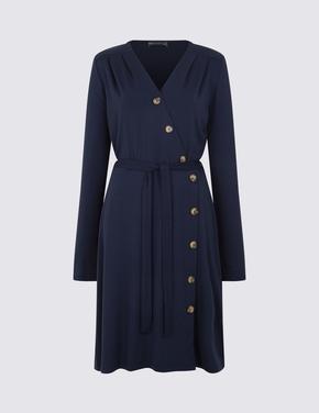 Jarse Uzun Kollu Elbise