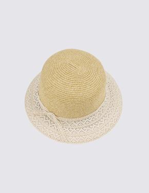 İşlemeli Kloş Şapka