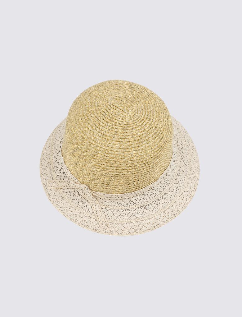 Kadın Multi Renk İşlemeli Kloş Şapka