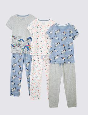 Pamuklu 3'lü Pijama Takımı