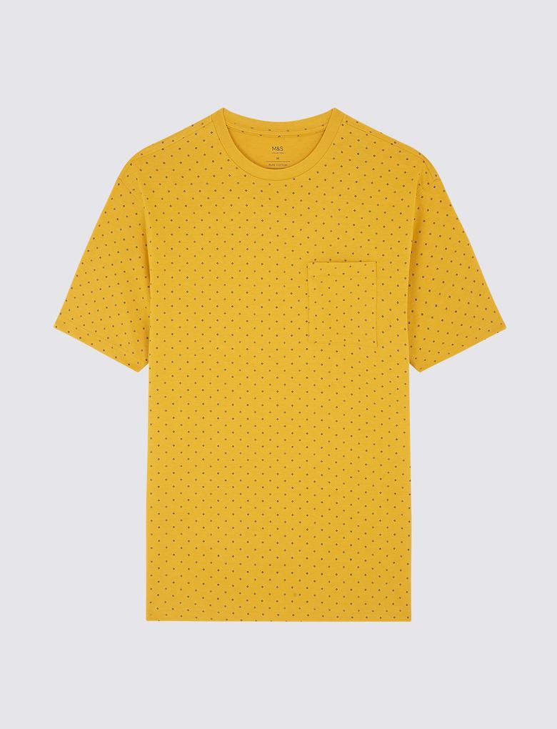 Kahverengi Saf Pamuklu T-shirt