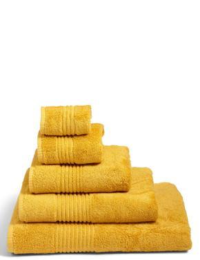 Sarı Luxury Mısır Pamuğu Havlu