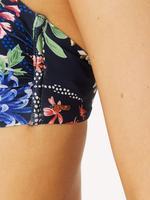 Kadın Lacivert Desenli Bandeau Bikini Üstü