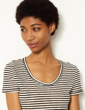 Siyah Kısa Kollu T-Shirt