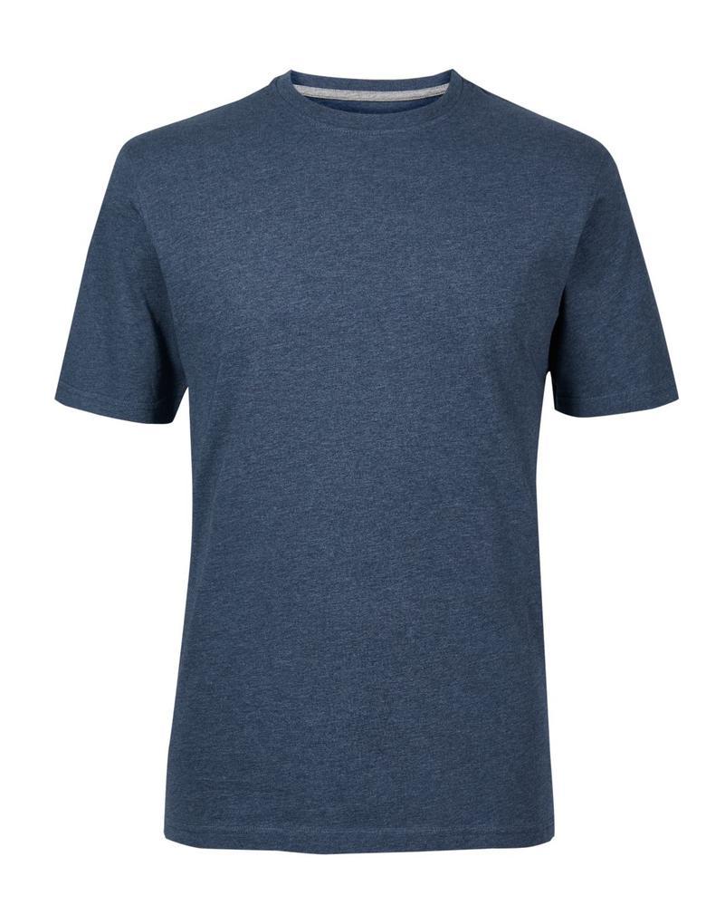 Mavi Pamuklu Sıfır Yaka T-Shirt