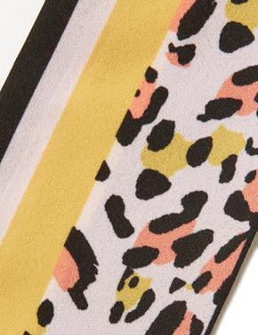 Kadın Sarı Desenli Eşarp