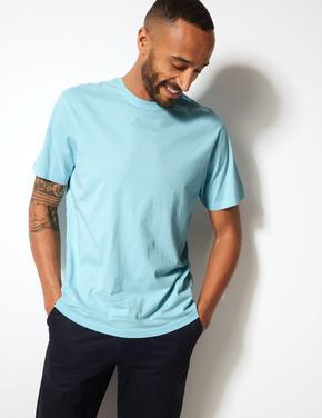 Pamuklu Sıfır Yaka T-Shirt