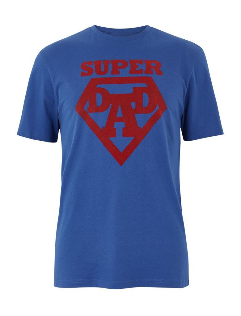 Pamuklu Super Dad Baskılı T-shirt