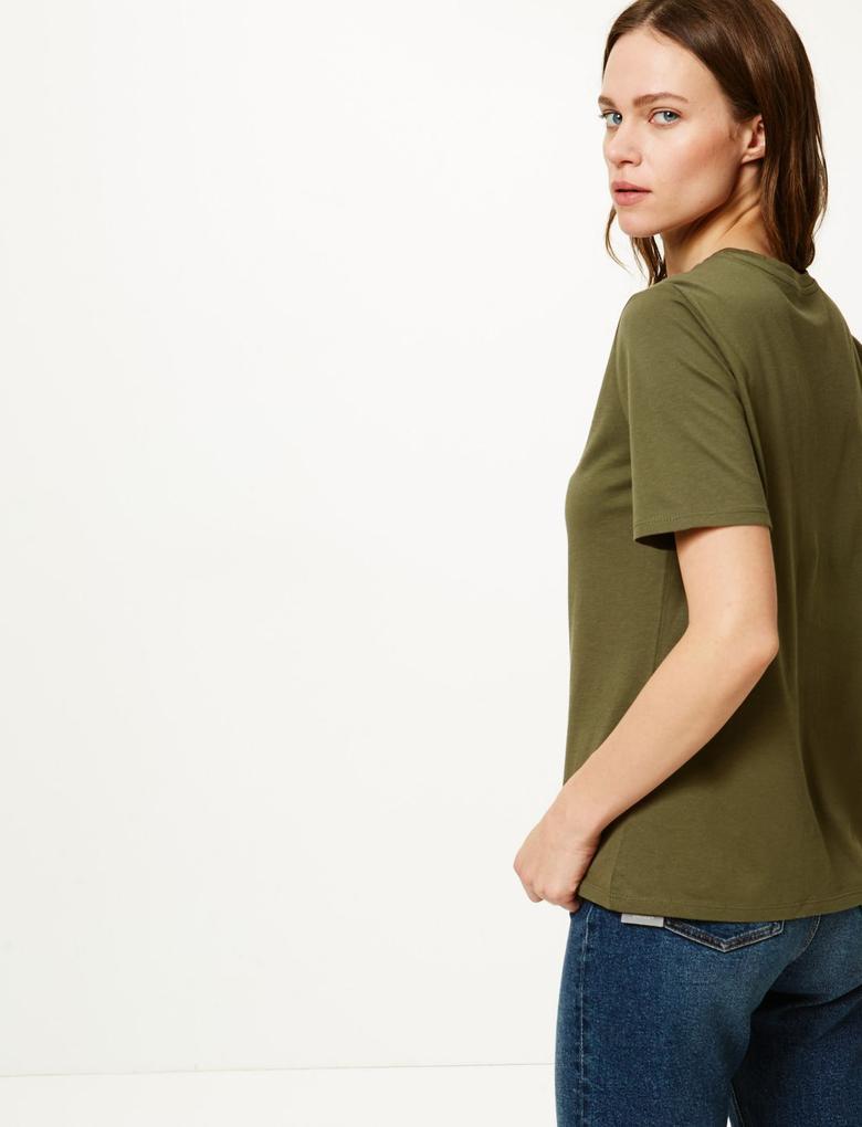 Pamuklu Straight Fit T-Shirt