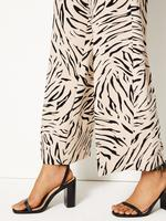 Yüksek Bel Wide Leg Grazer Pantolon