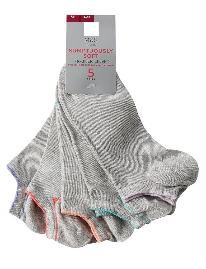 Kadın Gri 5'li Trainer Çorap Seti