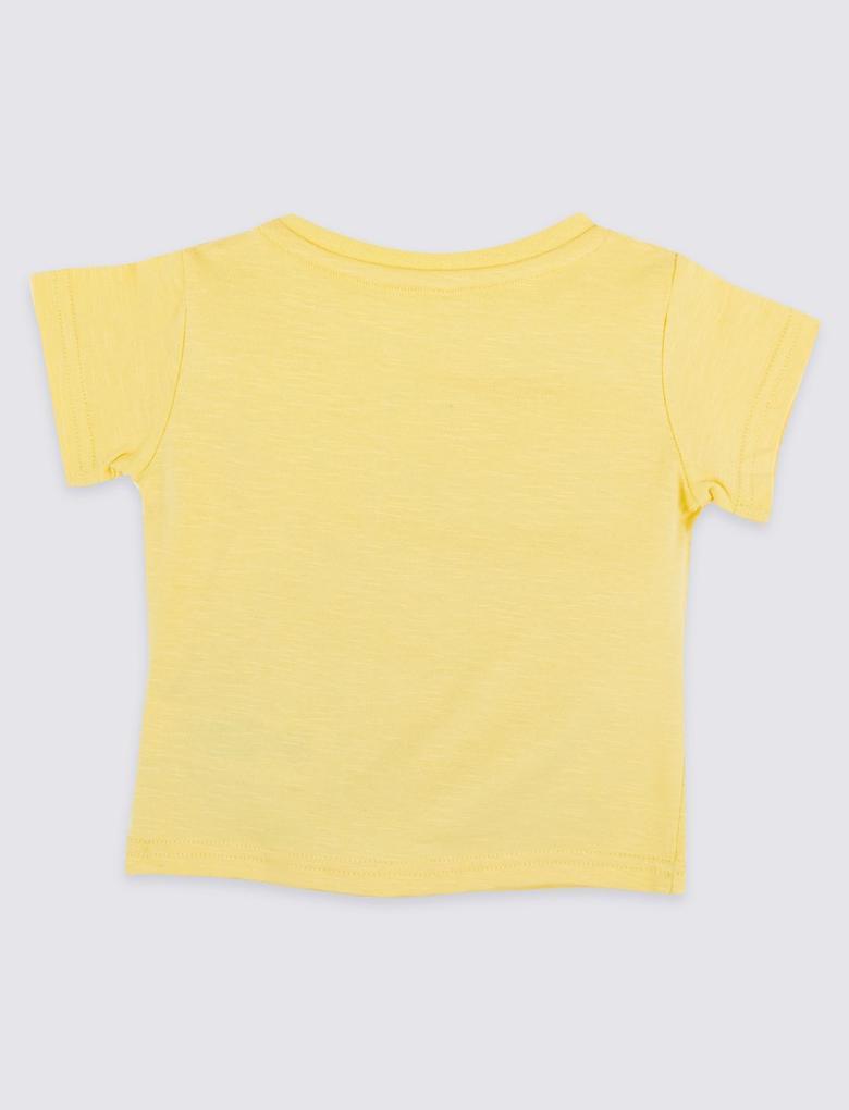 Saf Pamuklu Slogan T-Shirt