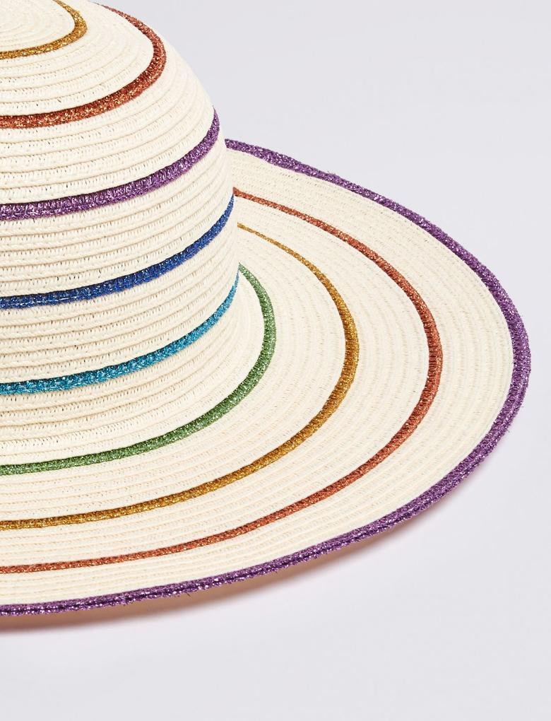 Kız Çocuk Multi Renk Sun Smart UPF50+ Çocuk Rainbow Şapka