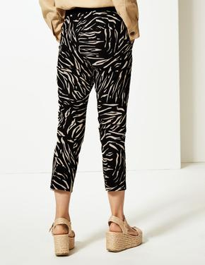 Desenli Kısa Pantolon