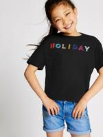 Saf Pamuklu Holiday T-shirt