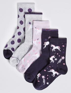5'li Unicorn Çorap Seti